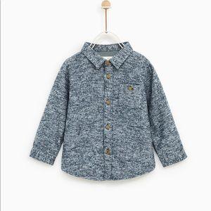 ZARA toddler boy flecked shirt - size 2-3 yrs